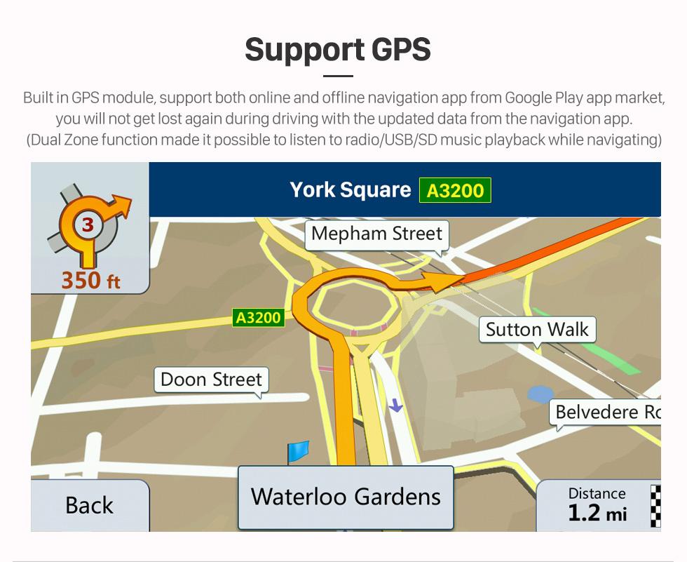 Seicane 9 pouces Android 10.0 Radio pour 2012-2014 Proton Myvi Bluetooth WIFI USB HD Touchscreen Navigation GPS soutien Carplay OBD2 DAB + DVR
