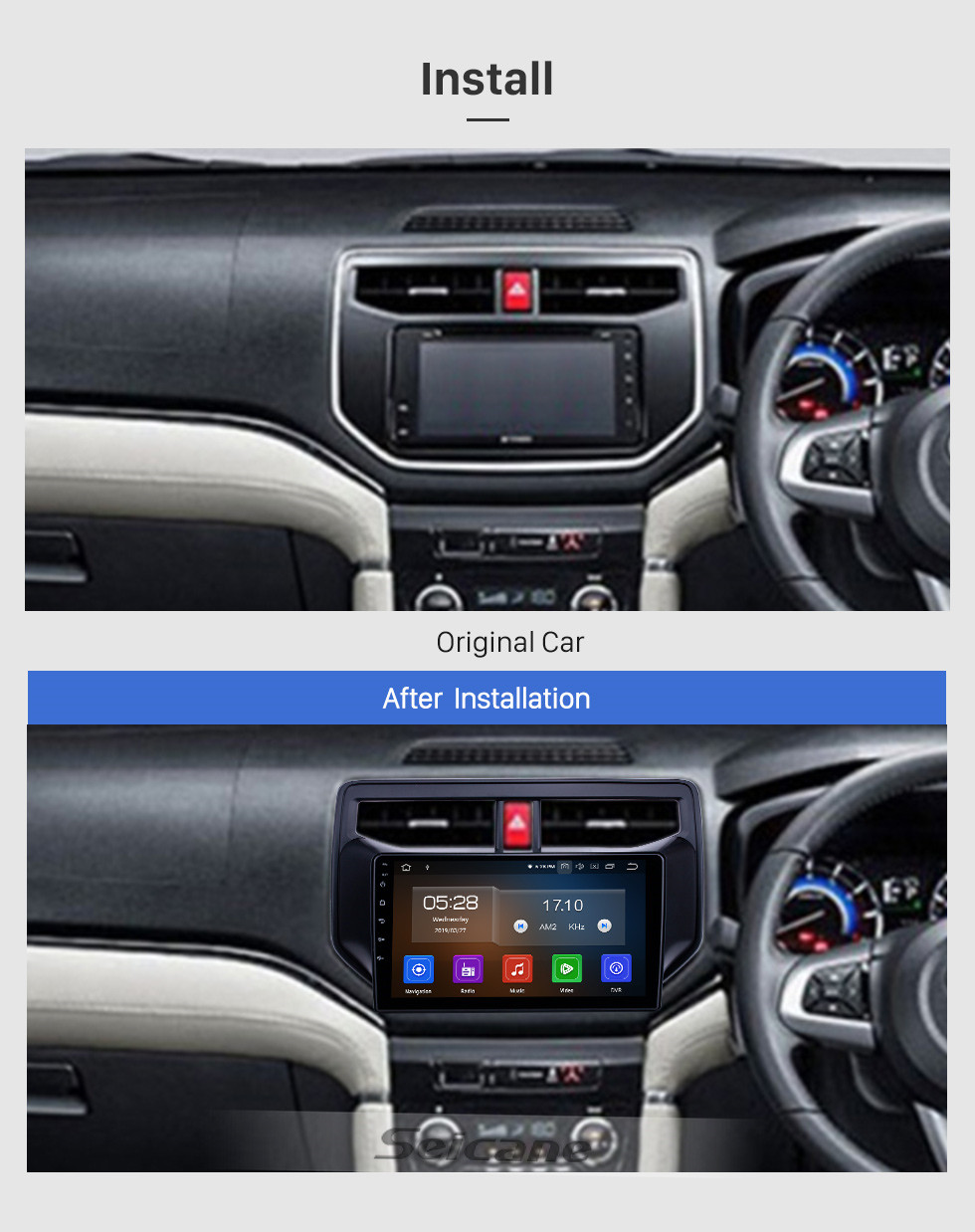 Seicane Android 10.0 9 inch GPS Navigation Radio for 2010-2019 Toyota Rush with HD Touchscreen Carplay Bluetooth support Digital TV