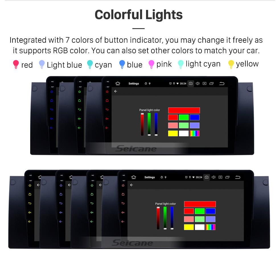 Seicane HD Touchscreen 1995-2003 BMW 5 Series E39/X5 E53 Android 10.0 9 inch GPS Navigation Radio Bluetooth Carplay support OBD2 DVR