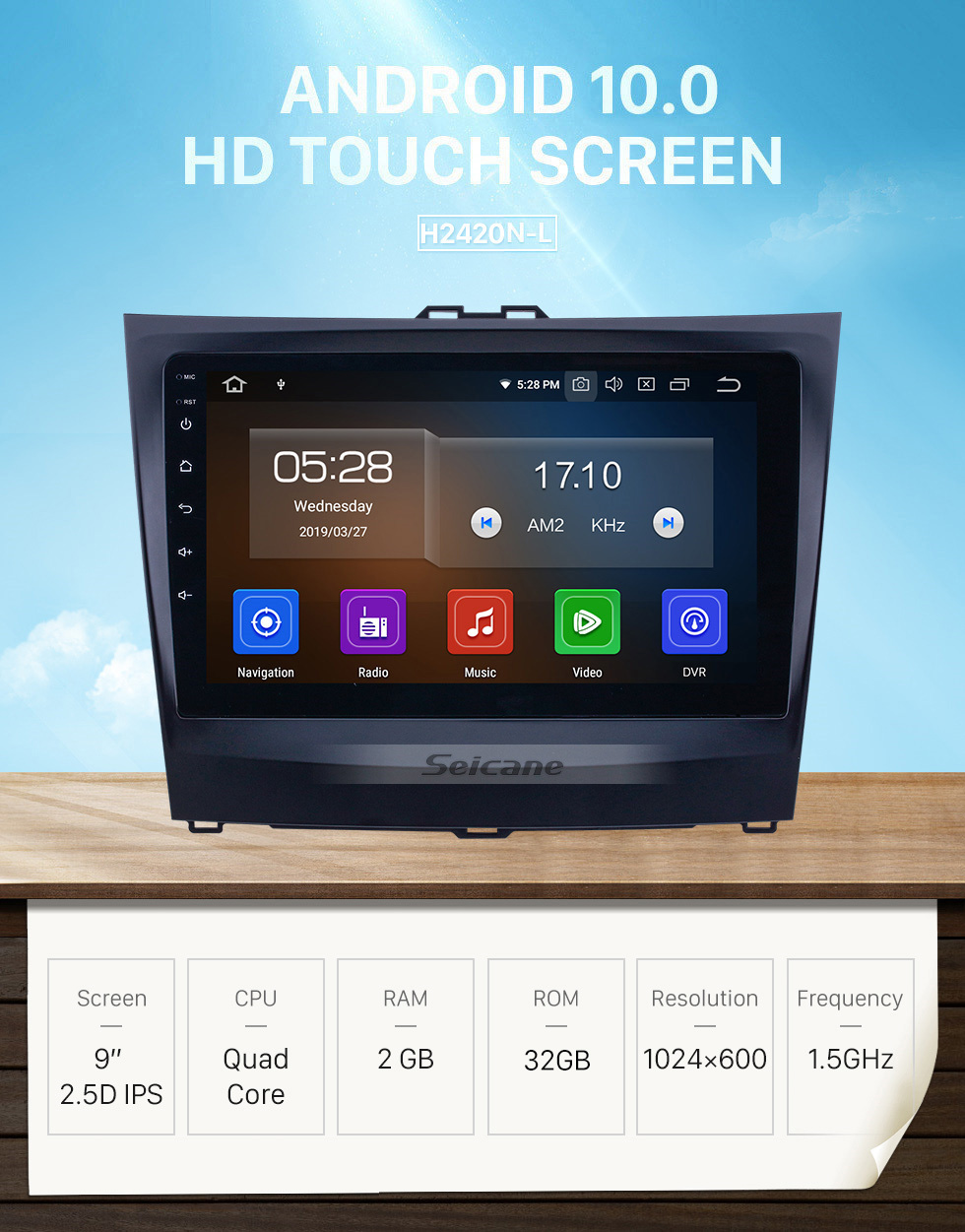 Seicane 2014-2015 BYD L3 Android 10.0 9 inch GPS Navigation Radio Bluetooth HD Touchscreen USB Carplay support DVR DAB+ SWC