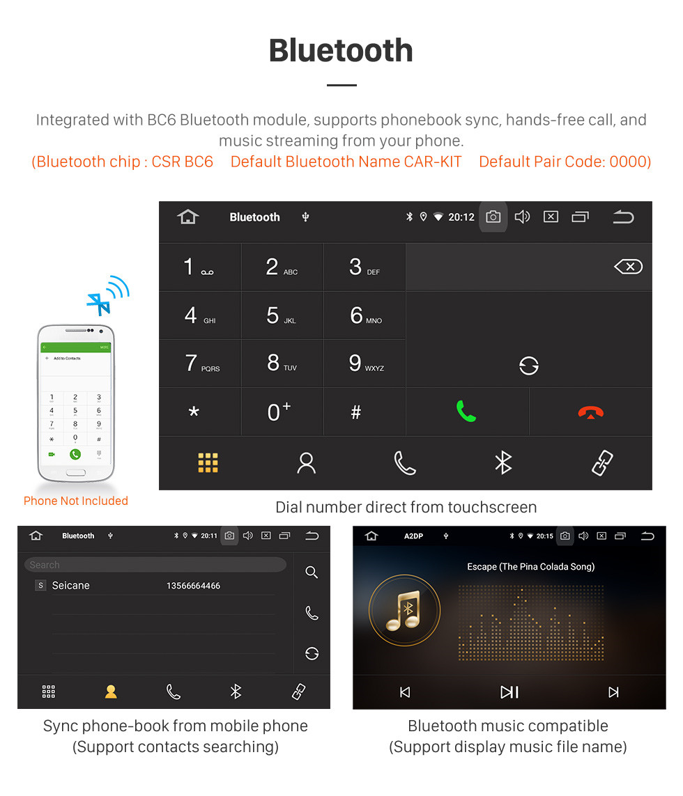 Seicane 10,1 Zoll 2013-2019 Honda Crider Auto A / C Android 10.0 GPS Navigationsradio Bluetooth HD Touchscreen Carplay Unterstützung Mirror Link