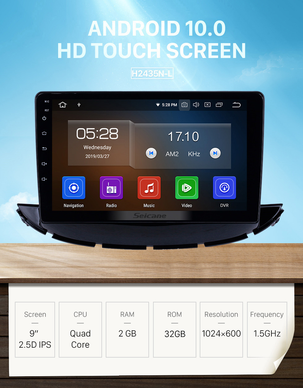 Seicane HD Touchscreen 2017-2019 Chevy Chevrolet Trax Android 10.0 9 inch GPS Navigation Radio Bluetooth Carplay support DAB+ OBD2