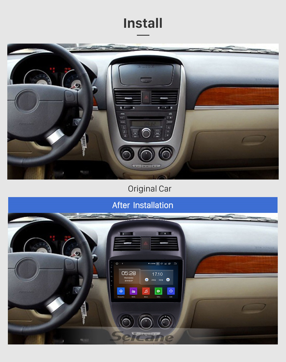 Seicane 10,1 Zoll Android 10.0 Radio für 2008-2018 Buick Excelle mit Bluetooth HD Touchscreen GPS-Navigation Carplay-Unterstützung DAB + TPMS
