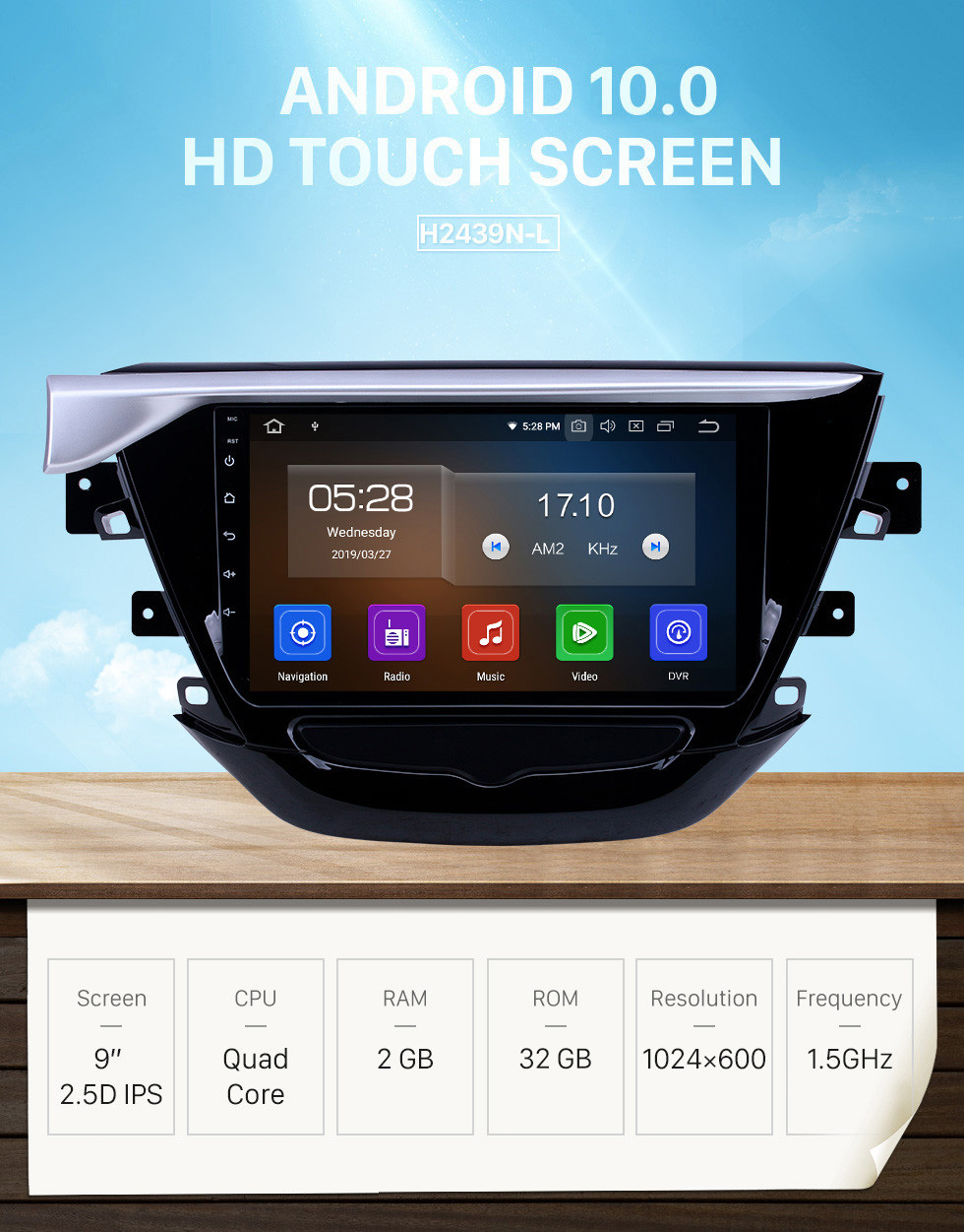 Seicane OEM 9 inch Android 10.0 for 2018-2019 Buick Excelle Bluetooth HD Touchscreen GPS Navigation Radio Carplay support 1080P Video TPMS