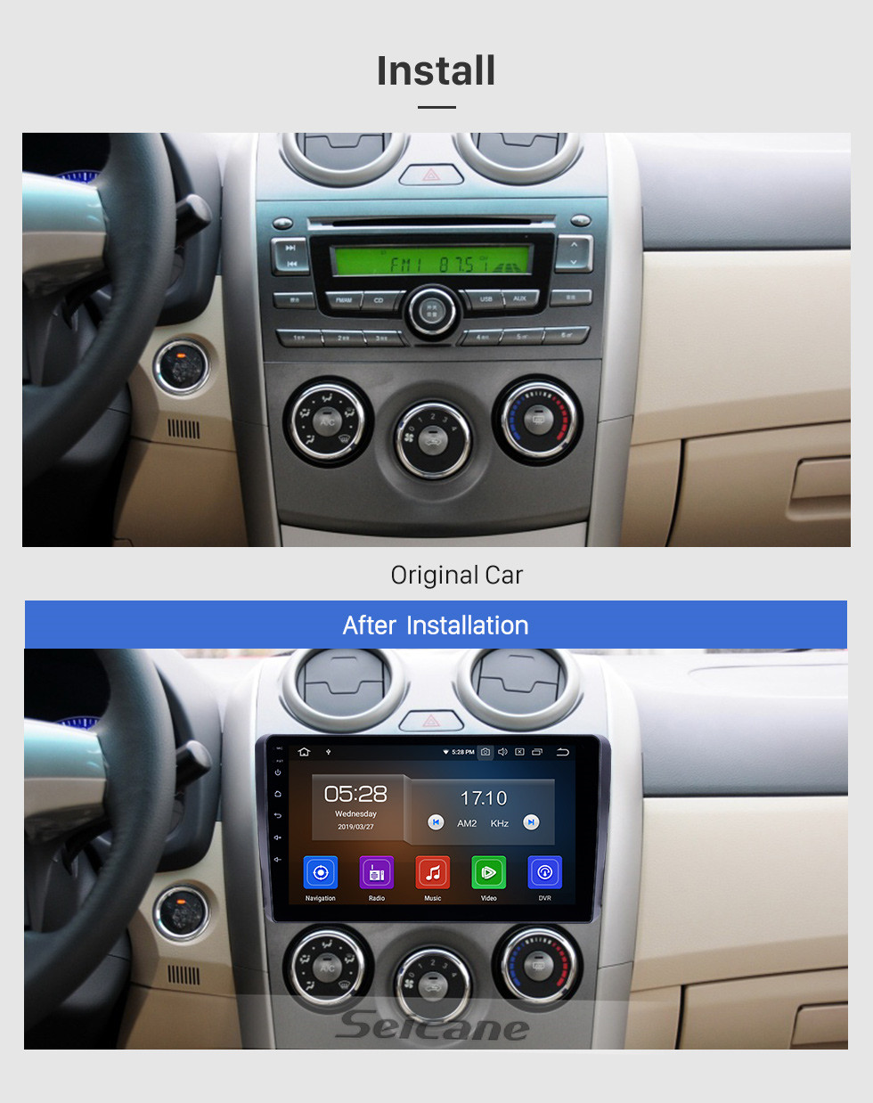 Seicane 9 inch 2010-2018 BYD G3 Android 10.0 GPS Navigation Radio WIFI Bluetooth HD Touchscreen Carplay support TPMS DVR Mirror Link