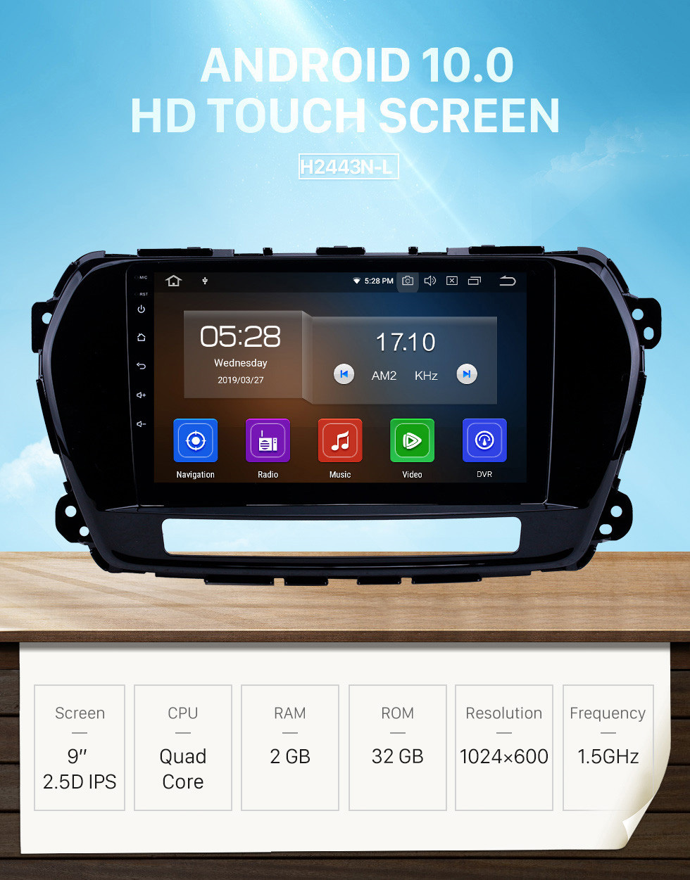 Seicane Android 10.0 9 inch GPS Navigation Radio for 2011-2015 Great Wall Wingle 5 with HD Touchscreen Carplay Bluetooth support Digital TV