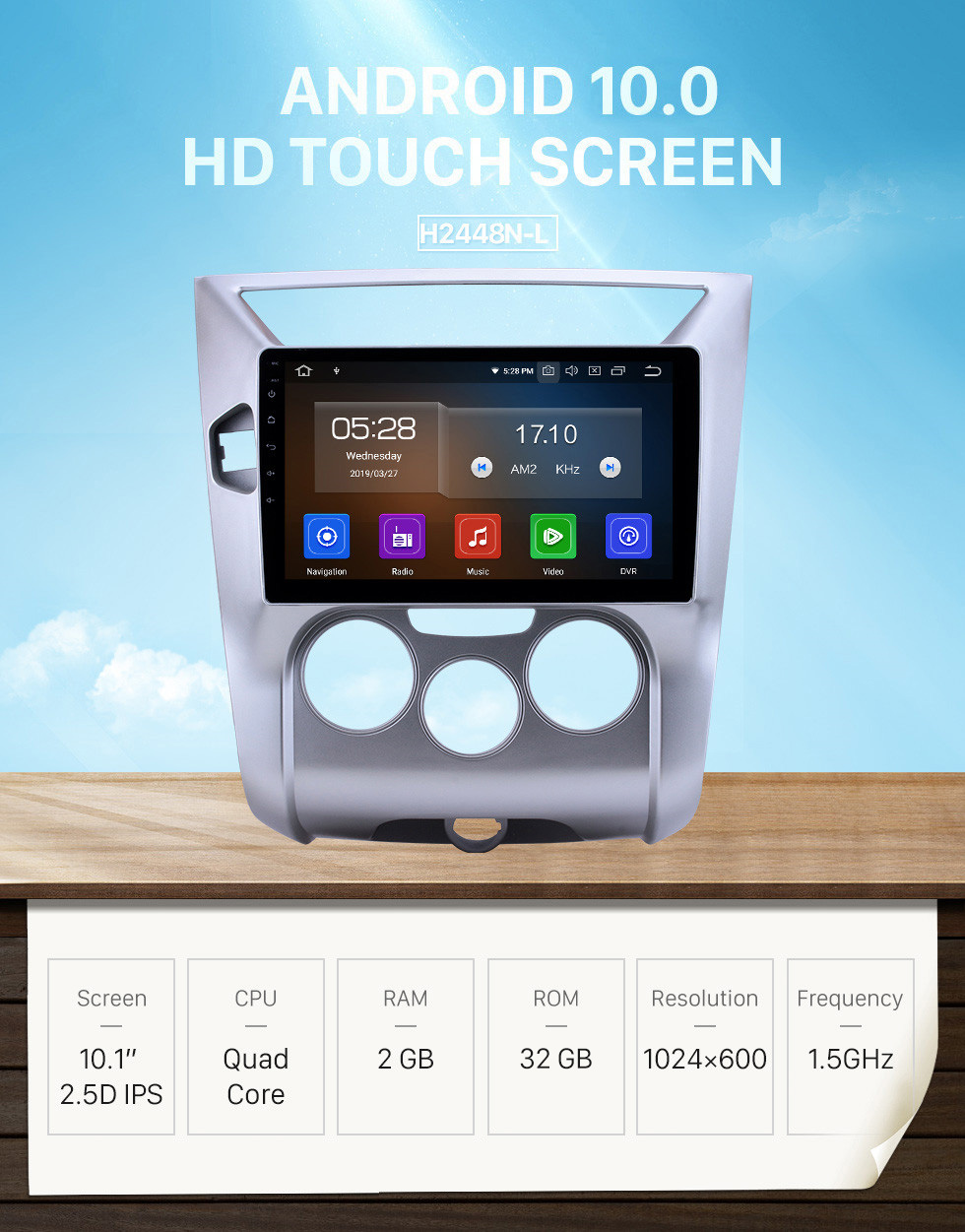 Seicane OEM 10.1 inch Android 10.0 for 2012-2016 Venucia D50/R50 Bluetooth HD Touchscreen GPS Navigation Radio Carplay support TPMS