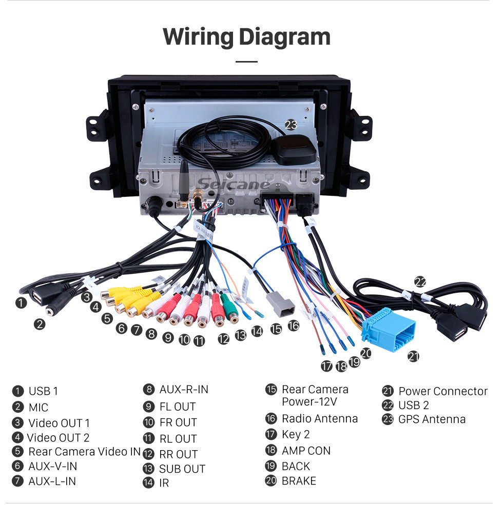 Seicane Android 10.0 HD Touch Screen Car Radio stereo for 2007-2015 Suzuki SX4 GPS Navigation system Bluetooth DVD Player Music USB WIFI DVR OBD2 1080P Mirror Link