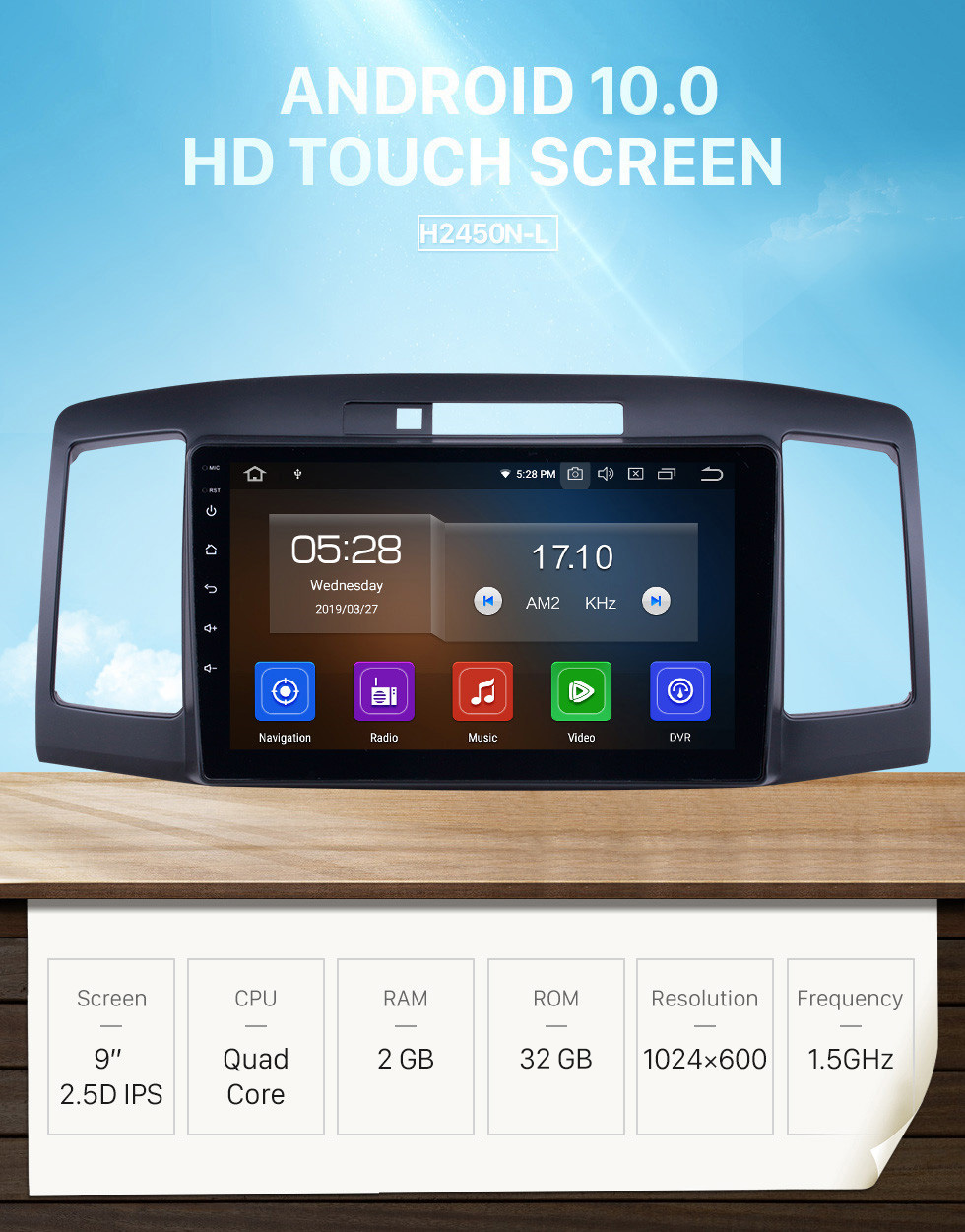 Seicane OEM 9 inch Android 10.0 for 2001-2007 Toyota Allion 240 Bluetooth HD Touchscreen GPS Navigation Radio Carplay support Digital TV
