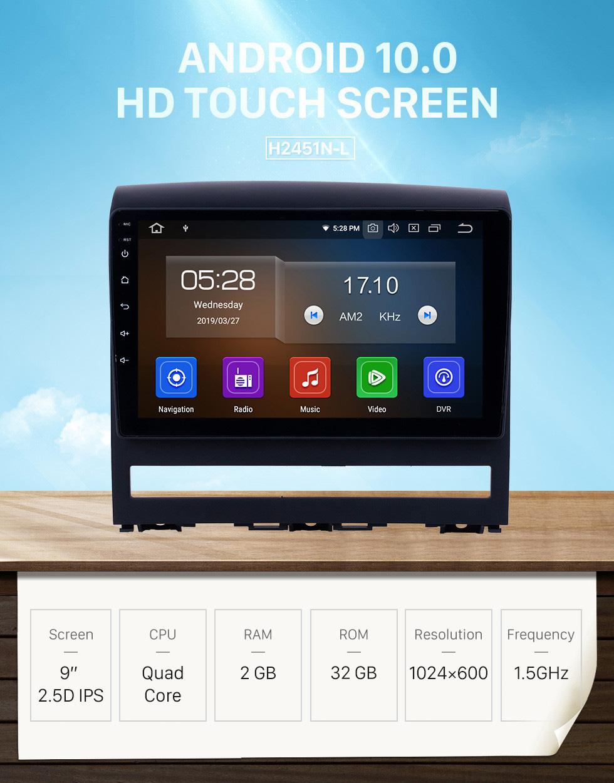 Seicane Pantalla táctil HD 2009 Fiat Perla Android 10.0 9 pulgadas GPS Navegación Radio Bluetooth AUX USB WIFI Carplay compatible Cámara trasera