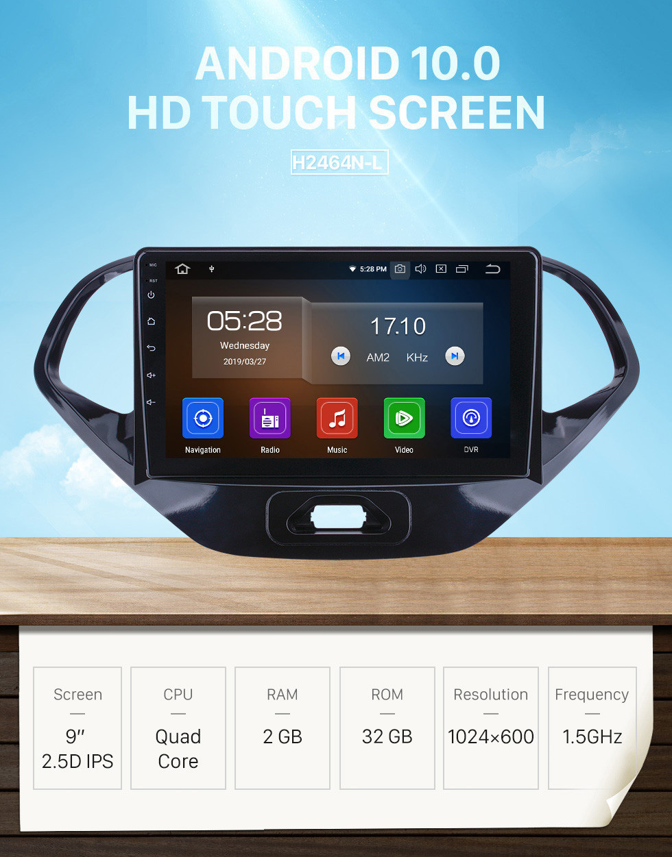 Seicane Android 10.0 for 2015 2016 2017 2018 Ford Figo Radio 9 inch GPS Navigation with HD Touchscreen Carplay Bluetooth support Digital TV