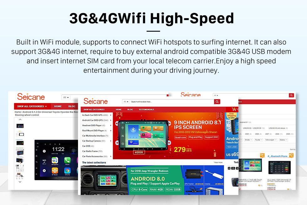 Seicane Para 2012 2013 Great Wall M4 Radio 10.1 pulgadas Android 10.0 HD Pantalla táctil Bluetooth con navegación GPS Carplay support SWC
