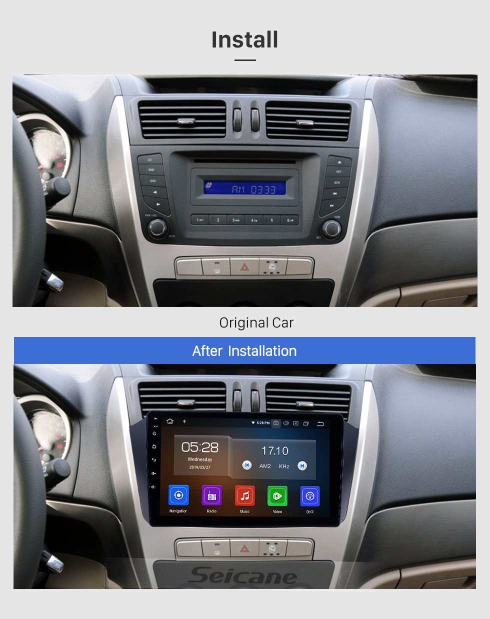 Seicane HD Touchscreen for 2012 2013 2014 Geely GX7 Radio Android 10.0 9 inch GPS Navigation System Bluetooth WIFI Carplay support DAB+