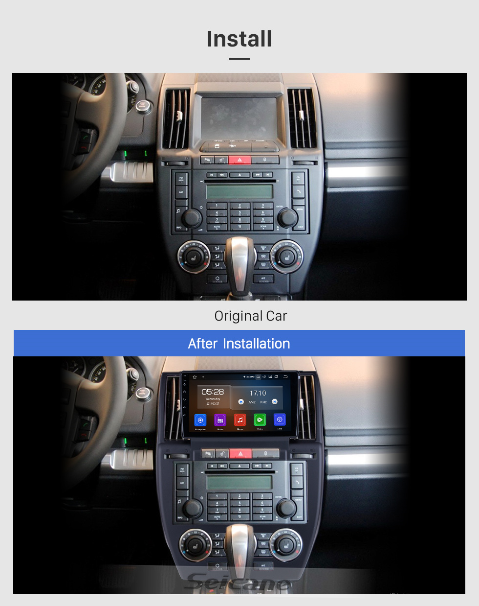 Seicane For 2007-2010 2011 2012 Land Rover Freelander Radio 9 inch Android 10.0 HD Touchscreen Bluetooth with GPS Navigation Carplay support 1080P