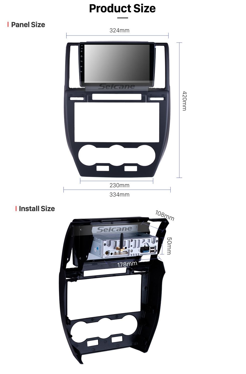 Seicane Para 2007-2010 2011 2012 Land Rover Freelander Radio 9 pulgadas Android 10.0 HD Pantalla táctil Bluetooth con navegación GPS Carplay soporte 1080P