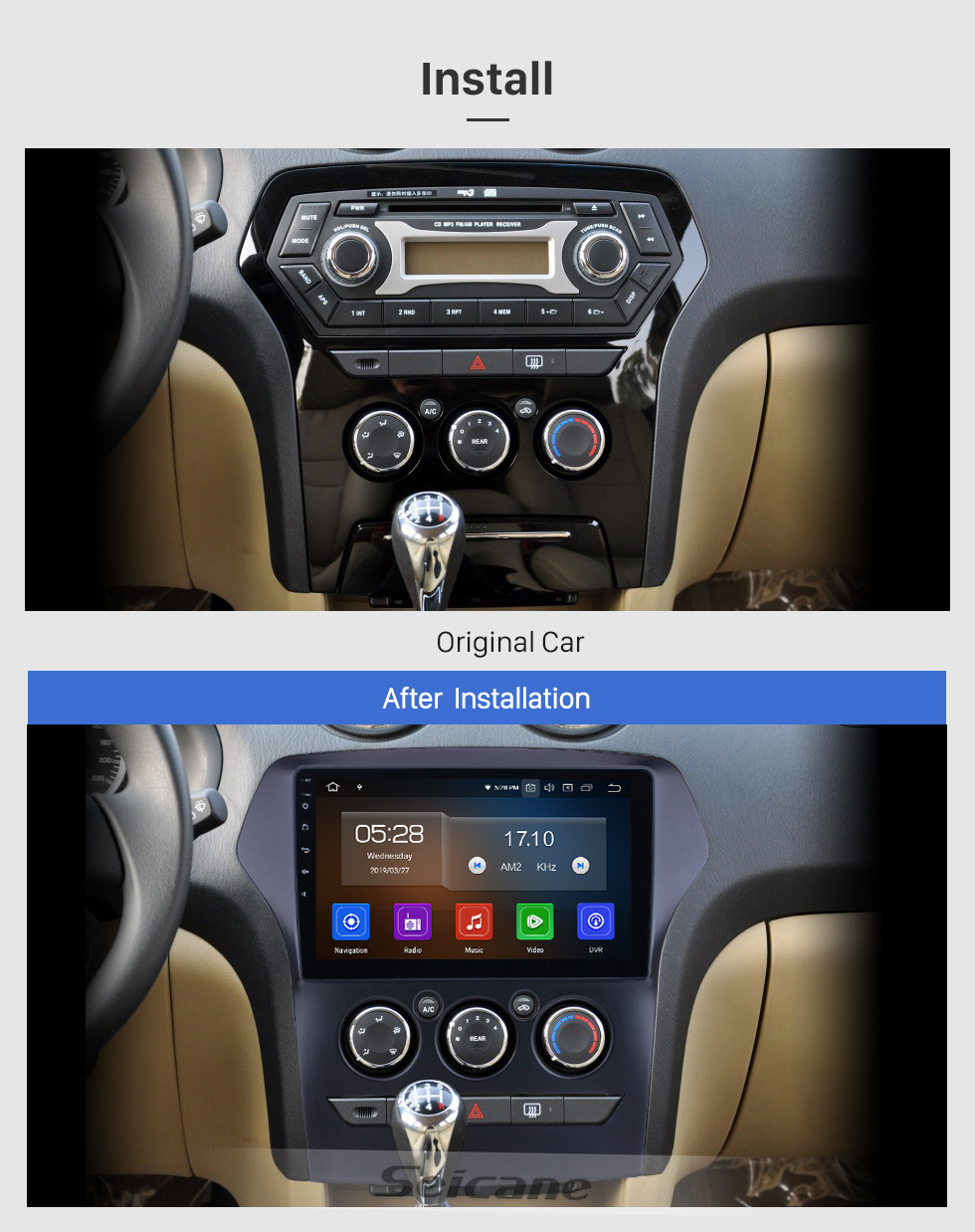 Seicane For 2011 JMC Old Yusheng Radio 10.1 inch Android 10.0 HD Touchscreen Bluetooth with GPS Navigation Carplay support SWC