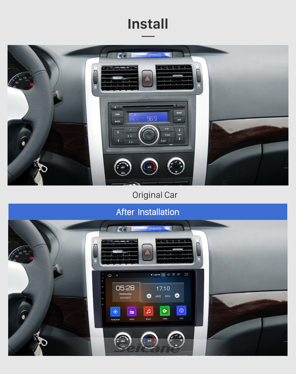 Seicane Android 10.0 For 2012-2015 2016 2017 Foton Tunland Radio 10.1 inch GPS Navigation System Bluetooth HD Touchscreen Carplay support SWC