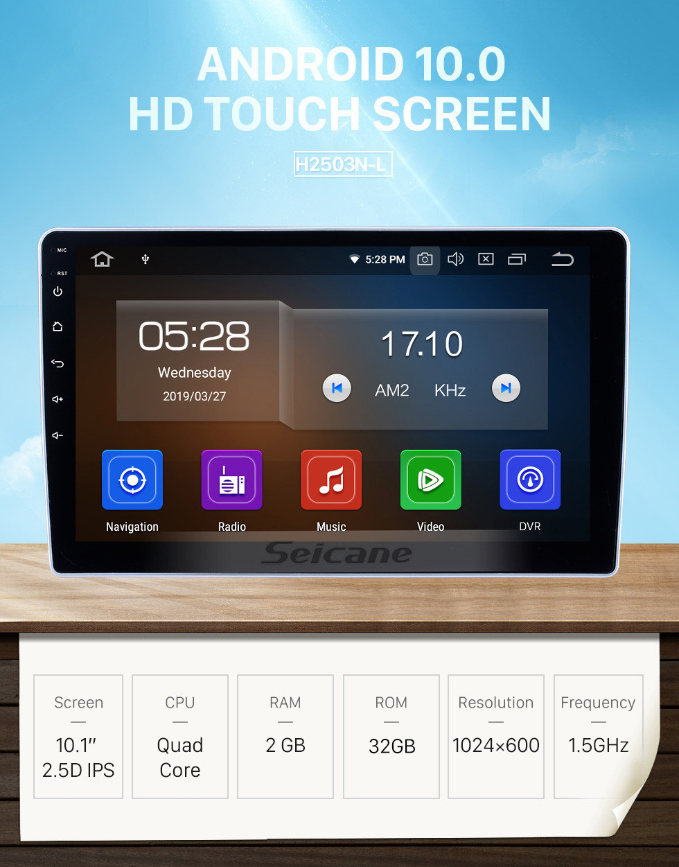 Seicane 10.1 inch For 2015 2016 2017 Dongfeng Ruiqi Radio Android 10.0 GPS Navigation System Bluetooth HD Touchscreen Carplay support Digital TV