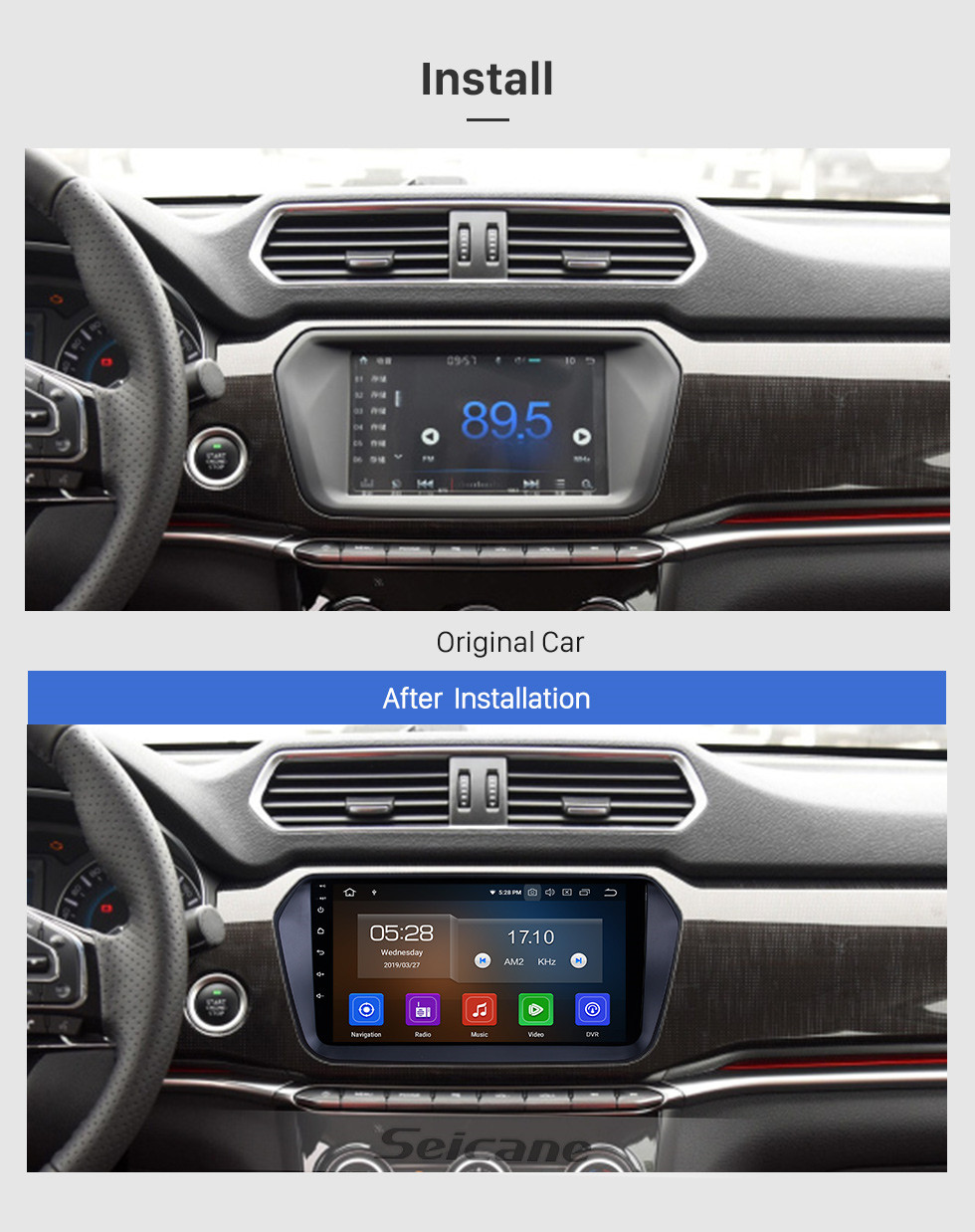 Seicane OEM 9 inch Android 10.0 for 2017 Great Wall Haval H2(Blue label) Radio Bluetooth HD Touchscreen GPS Navigation System Carplay support DVR