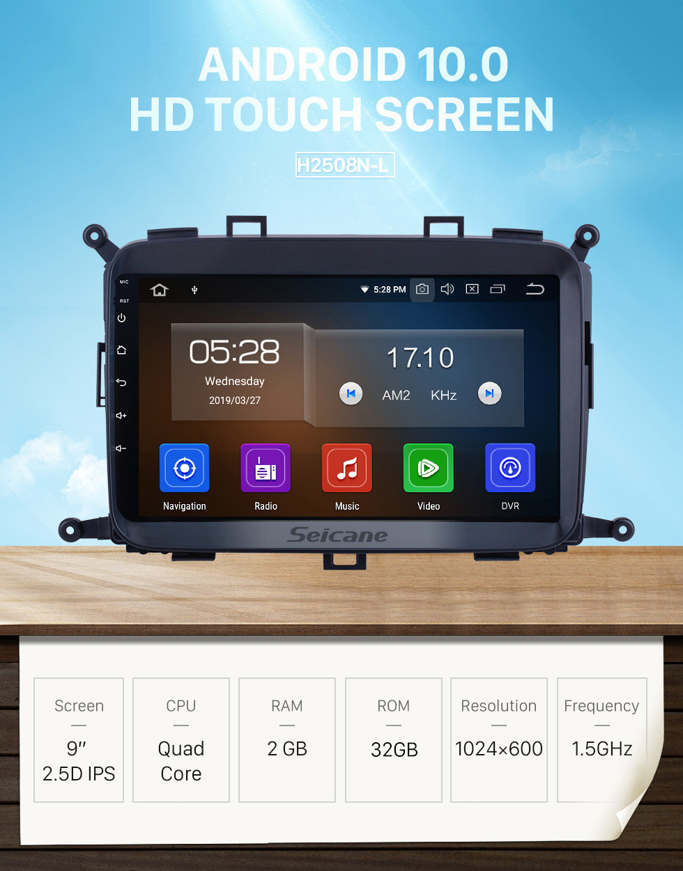 Seicane For 2014 2015 2016 2017 Kia Carens Radio 9 inch Android 10.0 HD Touchscreen Bluetooth with GPS Navigation System Carplay support 1080P Video