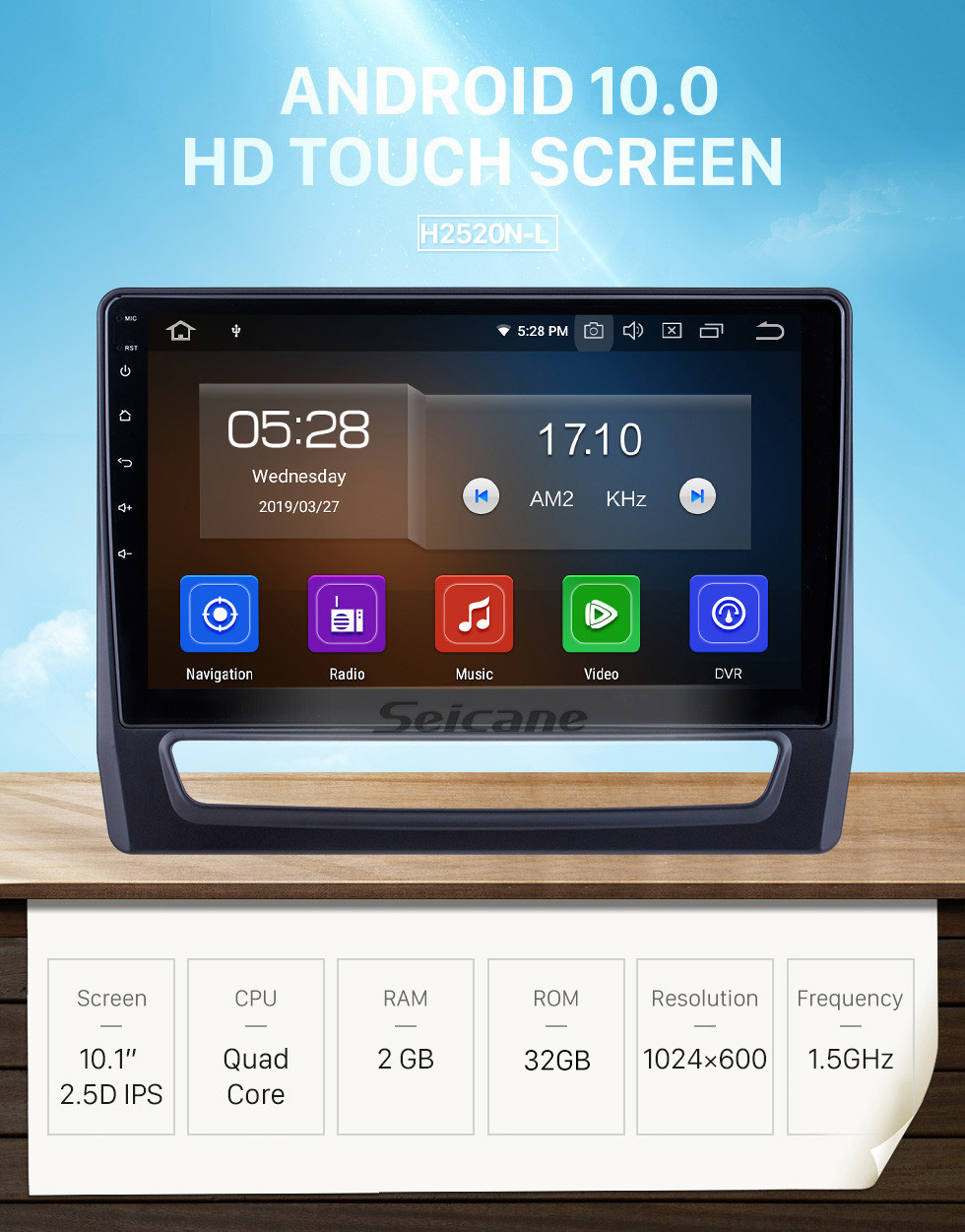 Seicane Android 10.0 For 2020 Mitsubishi ASX Radio 10.1 inch GPS Navigation System Bluetooth HD Touchscreen Carplay support SWC