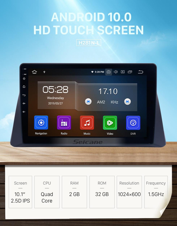 Seicane 10.1 polegadas HD Touch Screen Android 10.0 Car Stereo Radio Para 2008-2012 HONDA ACCORD 8 Navegação GPS Bluetooth Música 4G WIFI Suporte Câmera de segurança Controle de volante DVR OBD2 TPMS Link de espelho 1080P Vídeo
