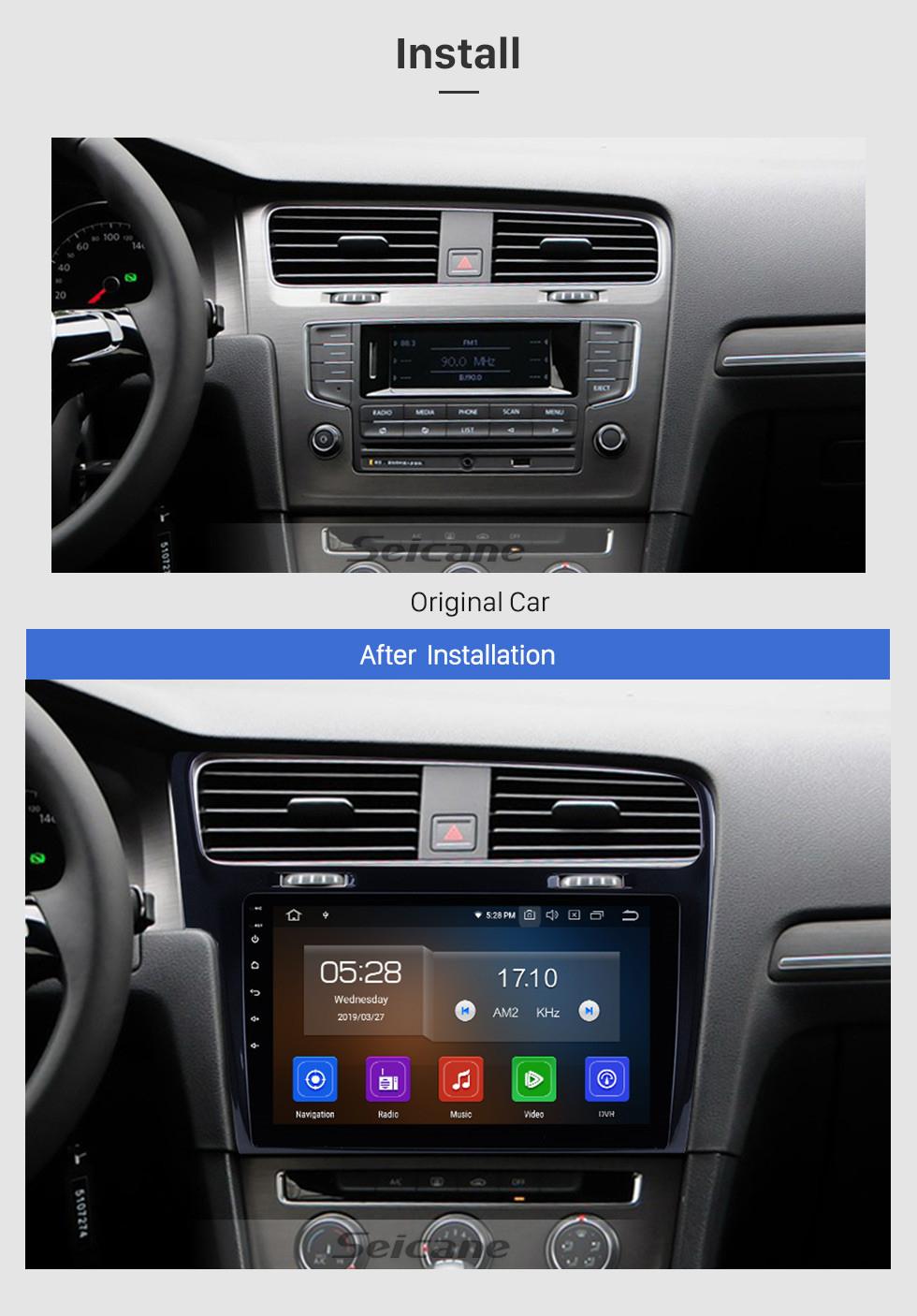 Seicane 10.1 polegadas Para 2013 2014 2015 VW Volkswagen Golf 7 Android 10.0 Rádio Navegação GPS Estéreo do carro com 1024 * 600 Touchscreen Mirror Link OBD2 Câmera de Retrovisor de Controle de Volante