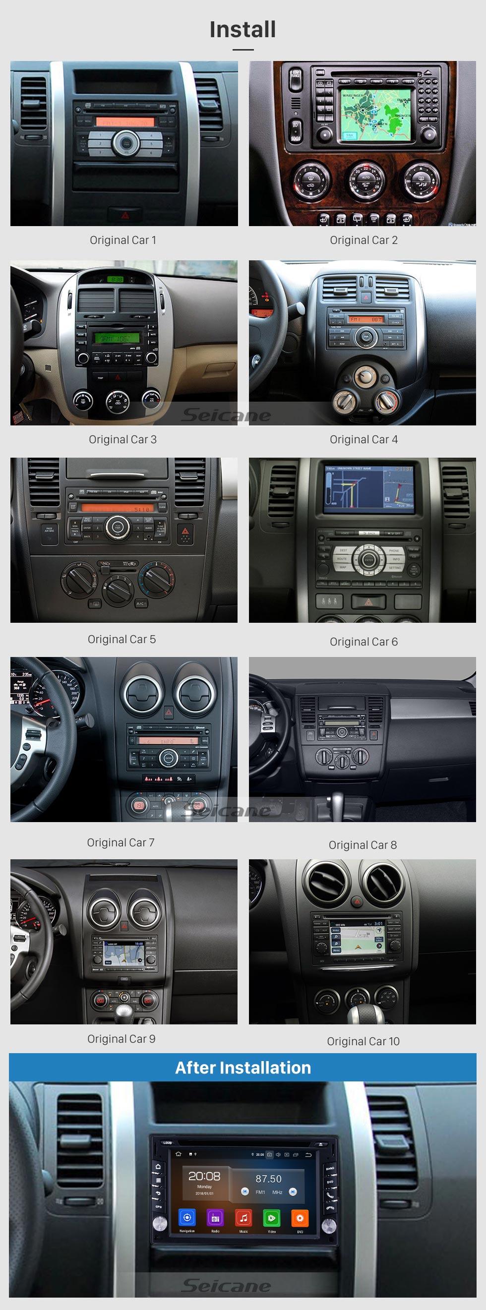 Seicane OEM Android 10.0 6.2 pouces HD Écran tactile Navigation GPS Radio Universelle Bluetooth AUX Carplay Musique support 1080P Digital TV Caméra de recul