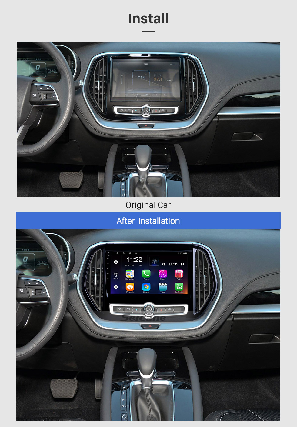 Seicane 10.1 inch Android 10.0 for 2019 2020 Chery Jetour X70 Radio GPS Navigation System With HD Touchscreen Bluetooth support Carplay Digital TV