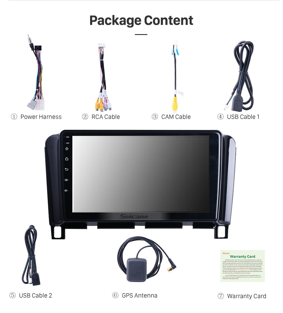 Seicane 9 inch Android 10.0 for Nissan Serena C26 Radio GPS Navigation System With HD Touchscreen WIFI Bluetooth support Carplay OBD2