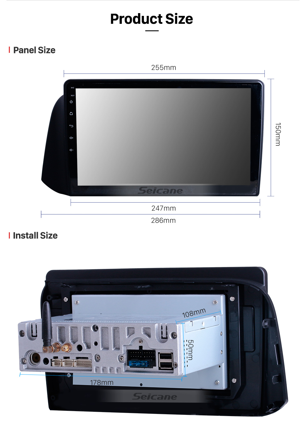Seicane 10.1 inch For 2019 Hyundai i10 RHD Radio Android 10.0 GPS Navigation System Bluetooth HD Touchscreen Carplay support 1080P Video