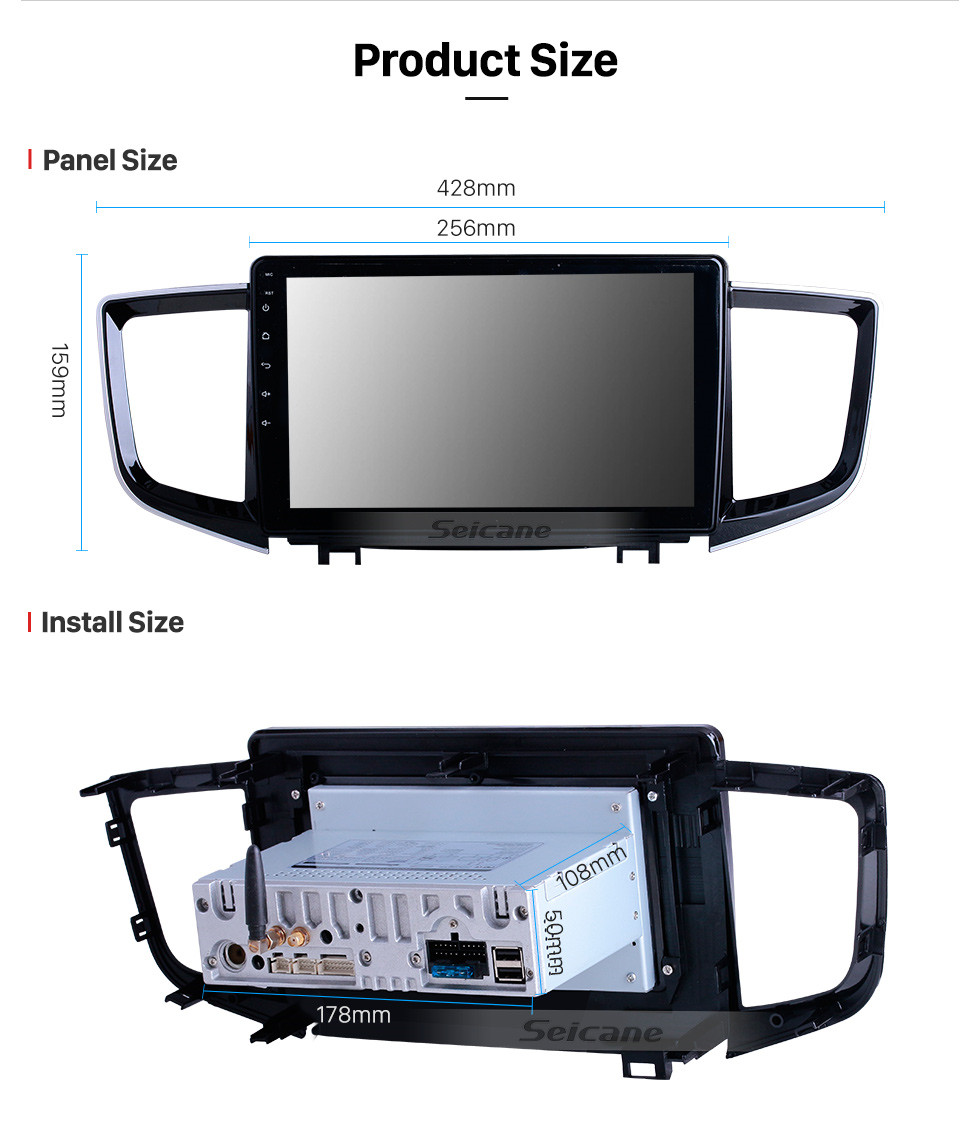 Seicane 10,1 дюймов для 2016 года Honda Pilot Radio Android 10.0 GPS навигационная система WIFI Bluetooth HD с сенсорным экраном Carplay поддержка цифрового ТВ DSP