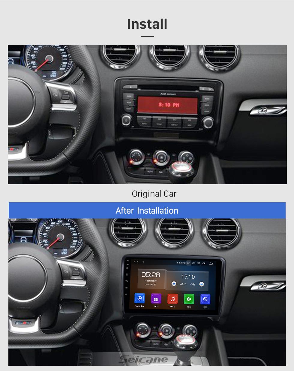 Seicane OEM 9 дюймов Android 10.0 для 2006-2011 2012 2013 Audi TT Радио с Bluetooth WIFI HD с сенсорным экраном GPS-навигатор Поддержка Carplay DSP