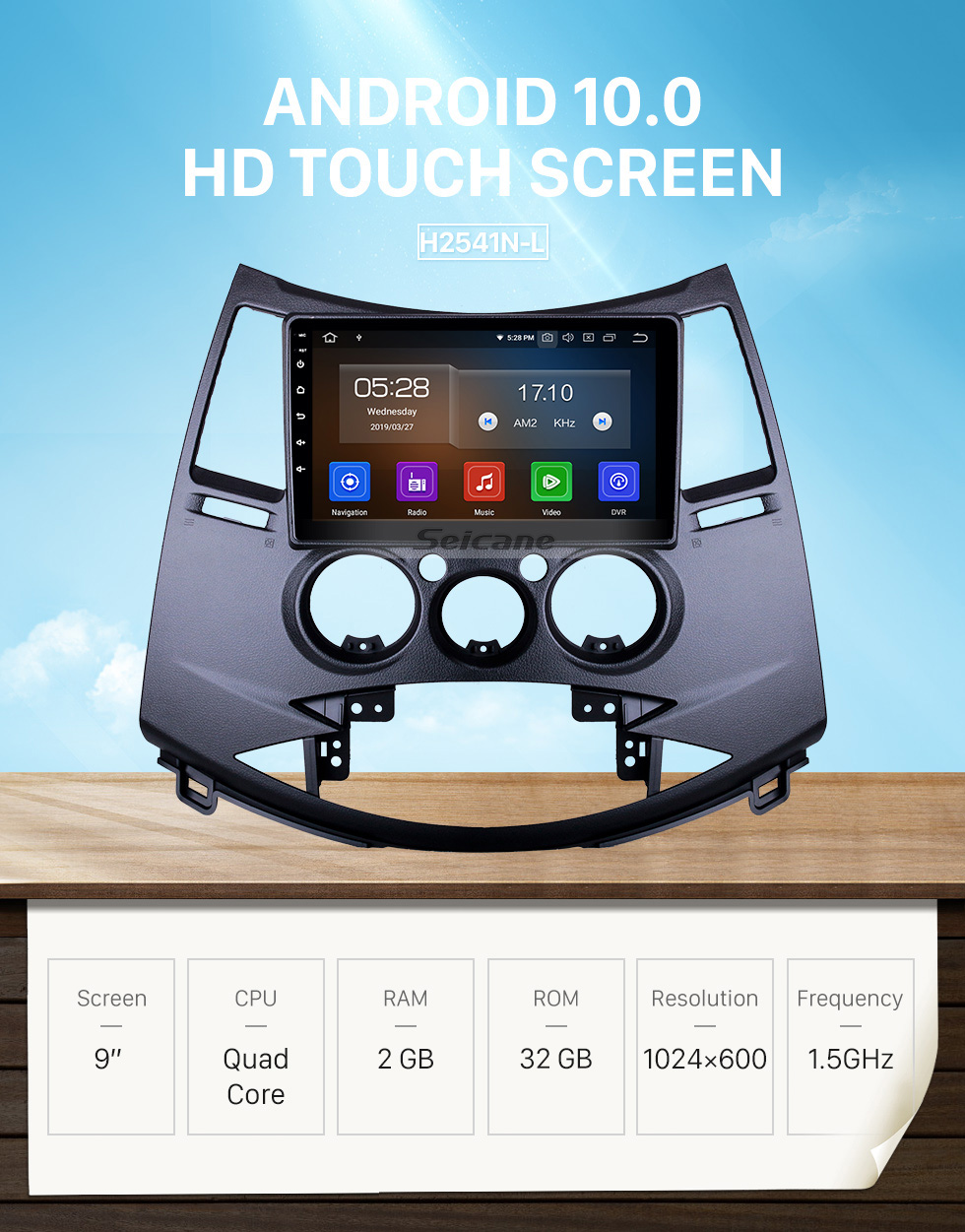 Seicane Android 10.0 For 2006 Mitsubishi Grandis Radio 9 inch GPS Navigation System Bluetooth AUX HD Touchscreen Carplay support SWC DSP