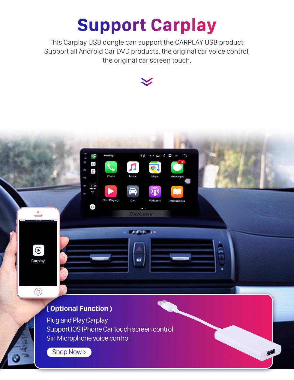 Seicane Android 9.0 9 inch 2004-2012 BMW X3 E83 2.0i 2.5i 2.5si 3.0i 3.0si 2.0d 3.0d 3.0sd GPS Auto Navigation System with AM FM Radio Bluetooth Music TV Tuner Backup camera 3G WIFI