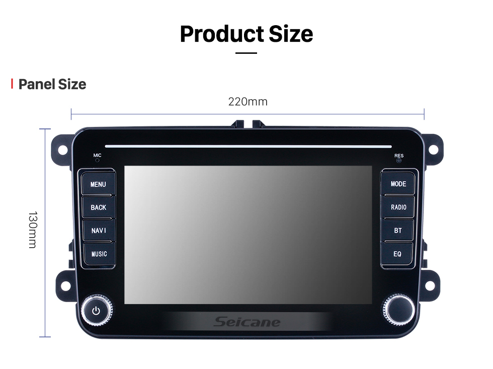 Seicane 7 inch HD Touchscreen Android 10.0 for VW Volkswagen Universal Radio GPS Navigation System With Bluetooth support Carplay Backup camera