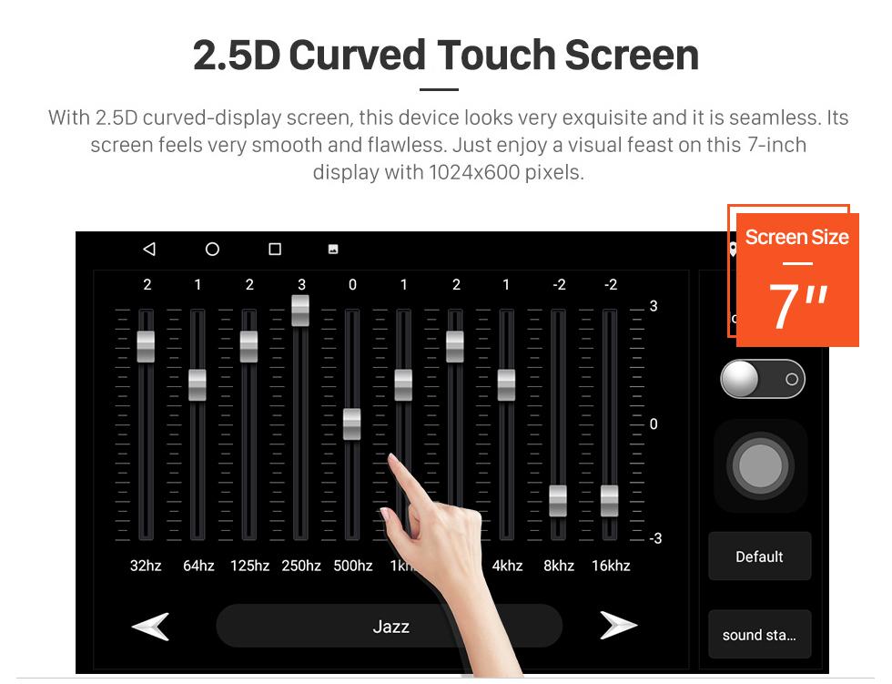 Seicane Après marché radio Lecteur DVD pour 2011 2012 2013 VW Volkswagen Lavida New Beetle 2 système de navigation GPS Bluetooth MP3 Support caméra de recul AUX 1080P Vidéo