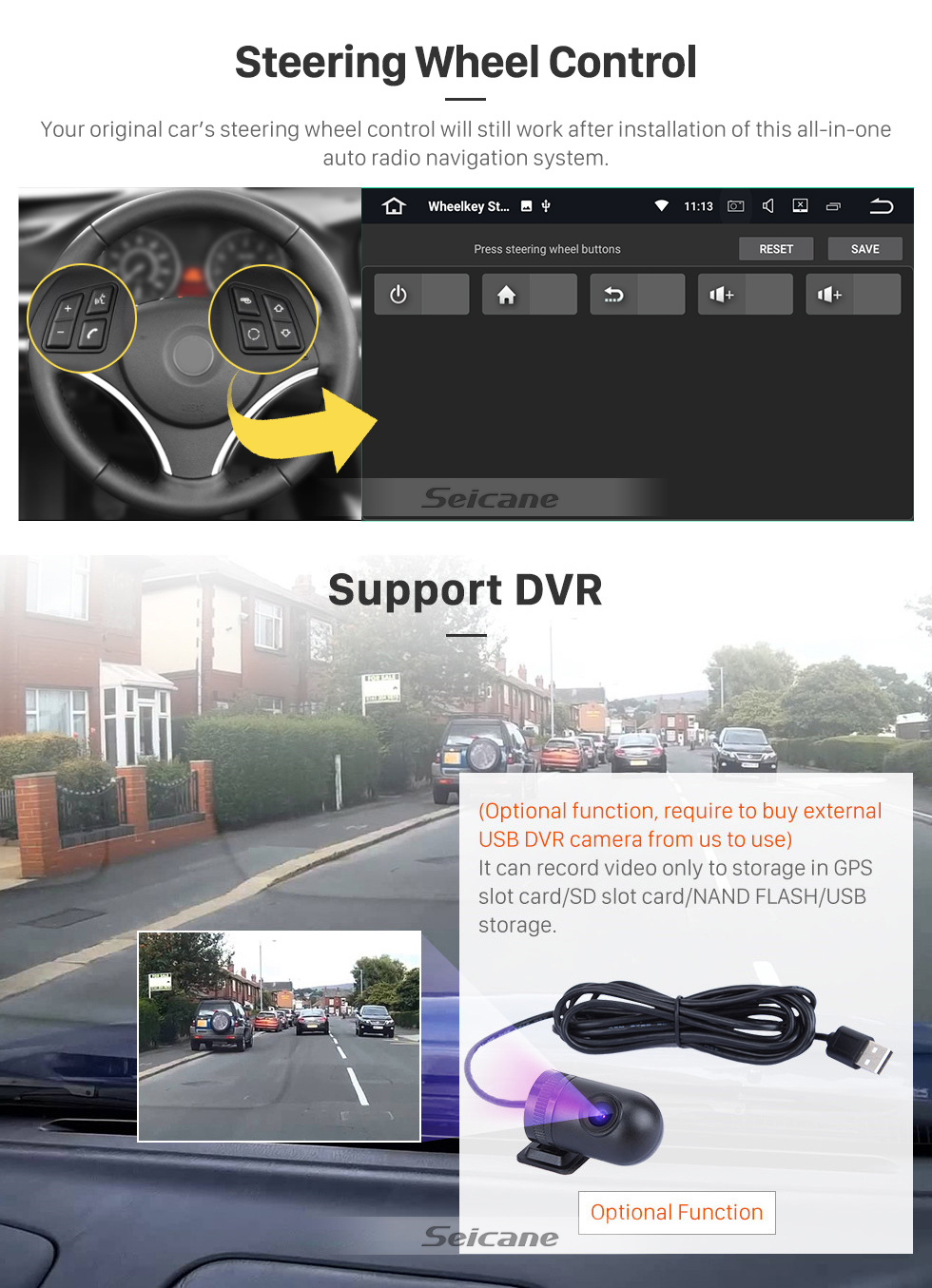 Seicane 7-дюймовый Android 10.0 для 2011 Audi TT Радио с системой GPS-навигации HD Сенсорный экран Carplay Поддержка Bluetooth TPMS DSP