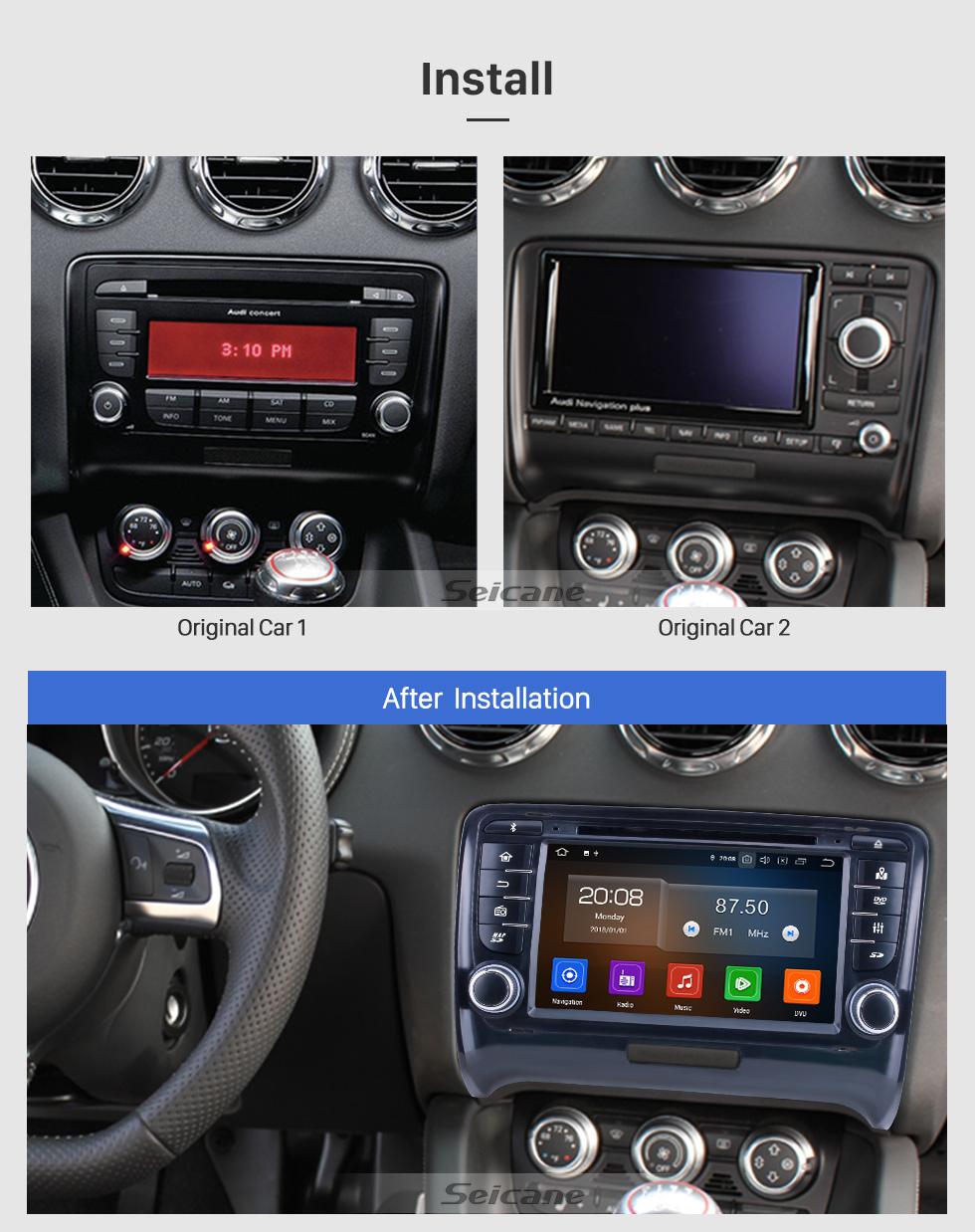 Seicane 7 polegadas Android 10.0 para 2011 Audi TT Radio com sistema de navegação GPS HD Touchscreen Carplay Suporte Bluetooth TPMS DSP