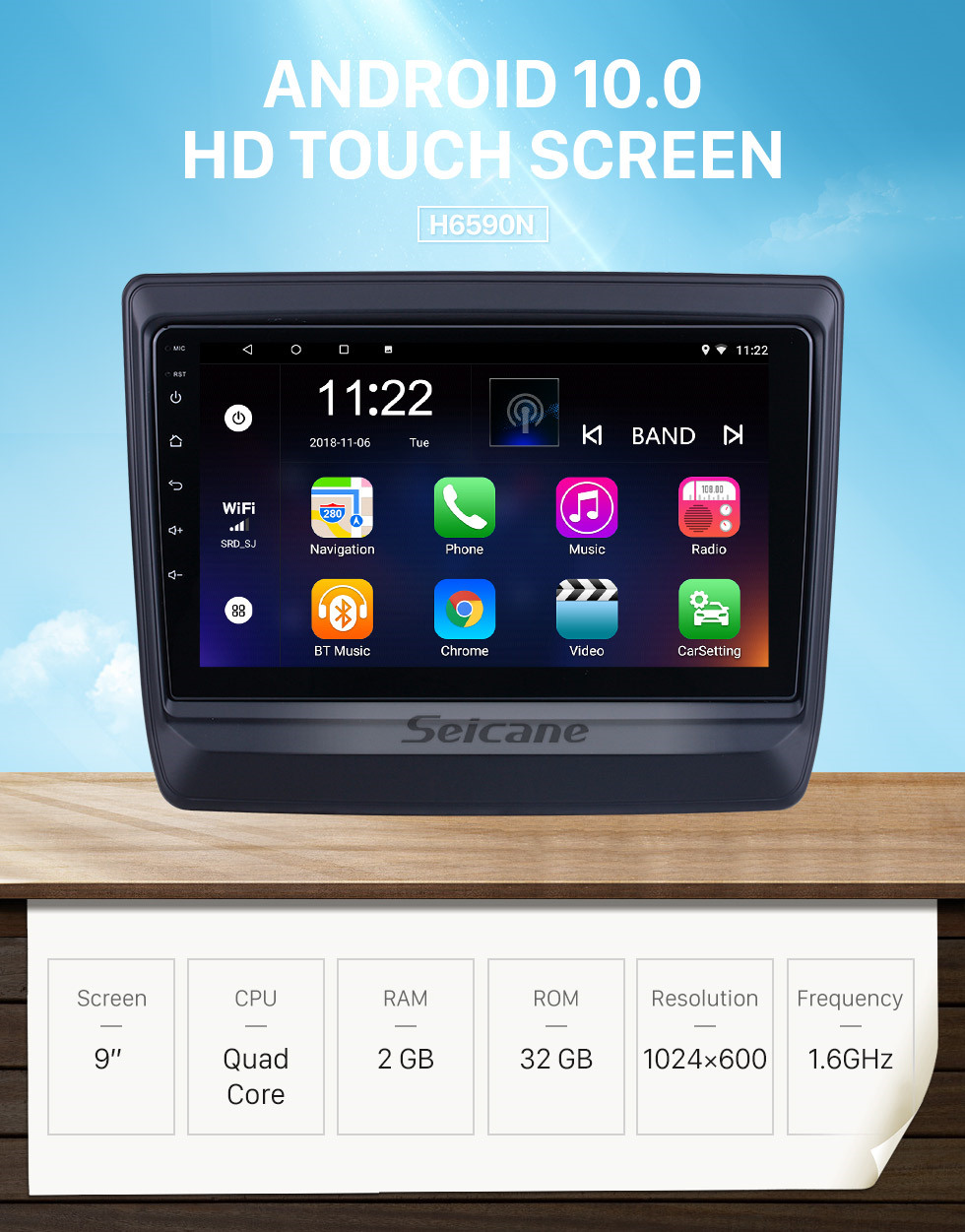 Seicane Android 10.0 HD Touchscreen 9 inch for 2020 Isuzu D-Max Radio GPS Navigation System with USB Bluetooth support Carplay DVR OBD2