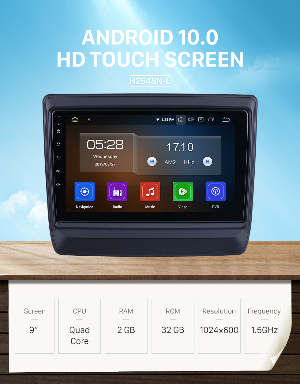 Seicane For 2020 Isuzu D-Max Radio 9 inch Android 10.0 HD Touchscreen Bluetooth with GPS Navigation System Carplay support 1080P Video