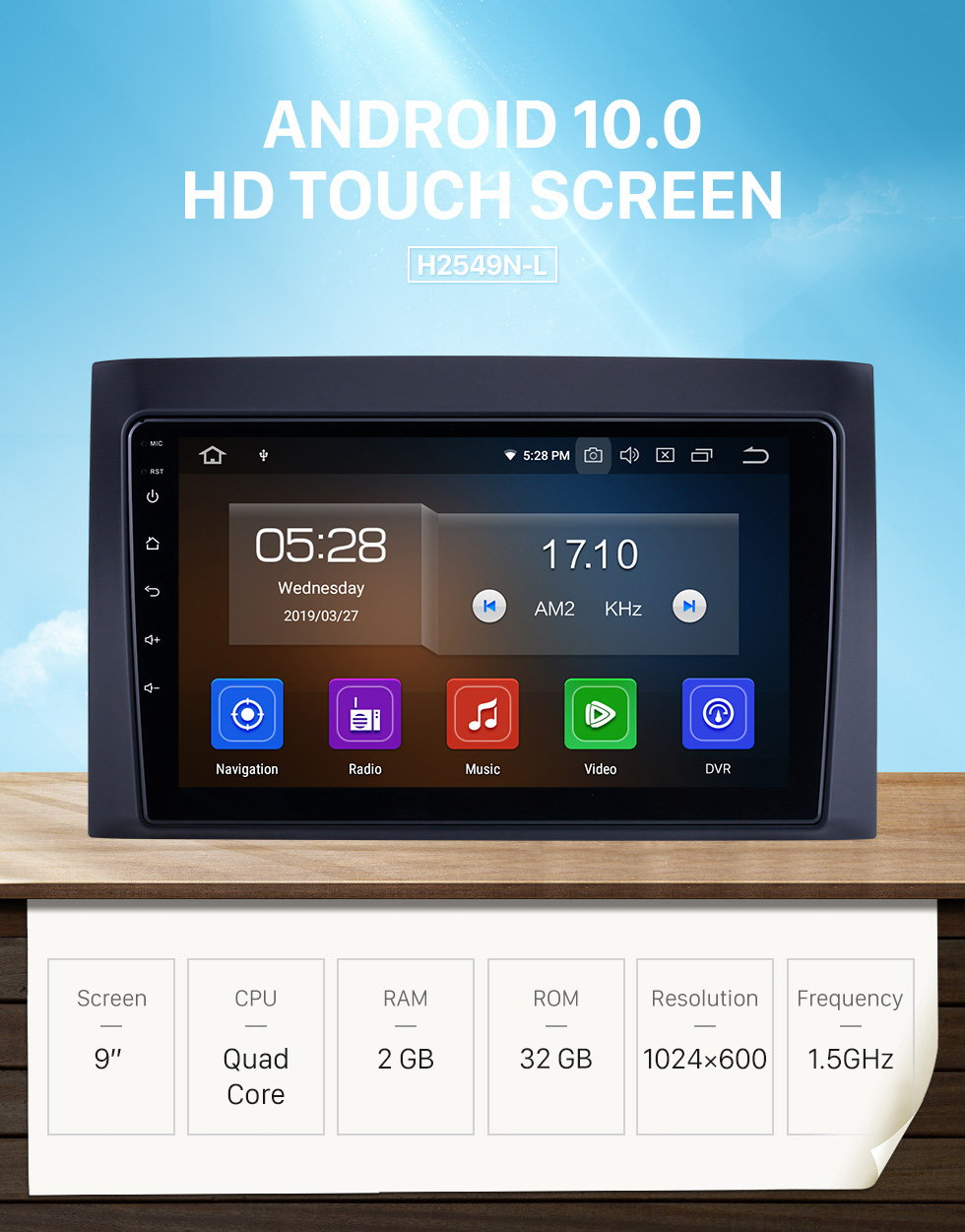 Seicane 9 inch For 2008 2009 2010 2011 Isuzu D-Max Radio Android 10.0 GPS Navigation System with HD Touchscreen Bluetooth Carplay support DVR