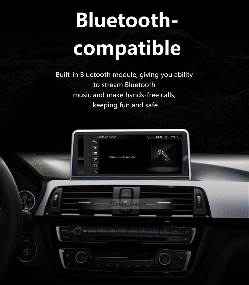 Seicane 10.25 Inch Android 10.0 HD Touchscreen 2013-2016 BMW 3 Series F30/F31/F34/F35 Aftermarket Radio Head Unit Car Stereo GPS Navigation System Bluetooth Phone Support WIFI Steering Wheel Control Rearview Camera