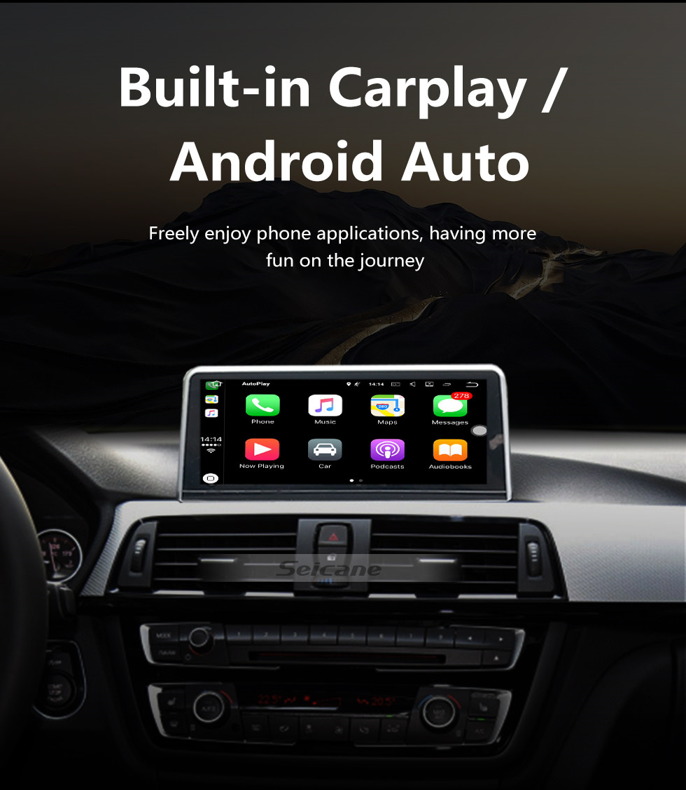 Seicane 10,25 polegadas Android 9.0 HD Touchscreen 2013-2016 BMW Série 4 F32 / F33 / F36 NBT GPS Unidade de rádio cabeça Bluetooth Música Suporte WIFI Retrovisor Câmera Controle de volante USB OBD2