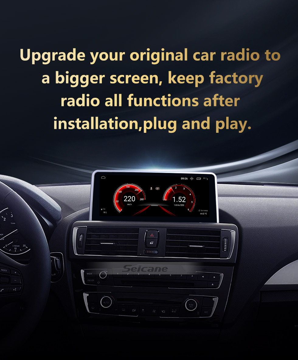 Seicane Android 10.0 10.25 inch for BMW 1 Series F20/F21(2011-2016)/2 Series F23 Cabrio(2013-2016) NBT ) LHD Radio HD Touchscreen GPS Navigation System with Bluetooth support Carplay DVR