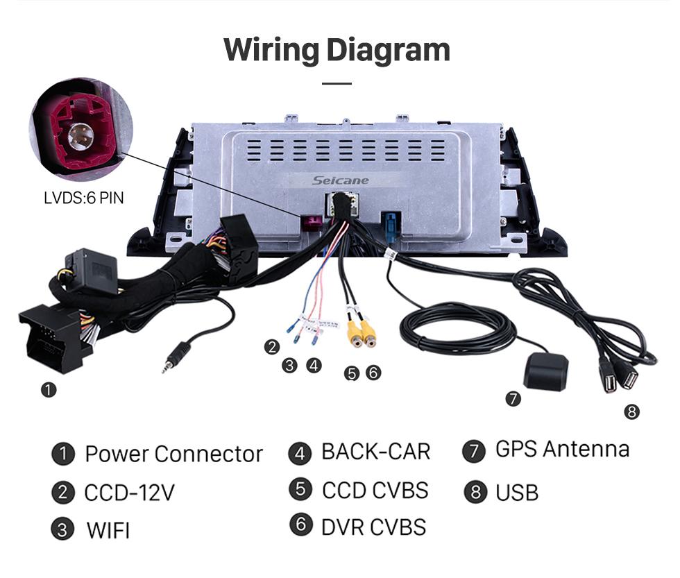 Seicane 10,25 Zoll Android 10.0 für BMW 5er F07 GT (2013-2017) NBT Radio GPS-Navigationssystem Mit HD Touchscreen Bluetooth-Unterstützung Carplay