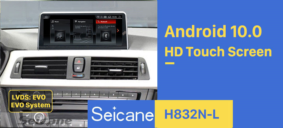 Seicane For BMW 3 Series (2018-)/4 Series (2018-) EVO Radio 10.25 inch Android 10.0 HD Touchscreen GPS Navigation System with Bluetooth support Carplay