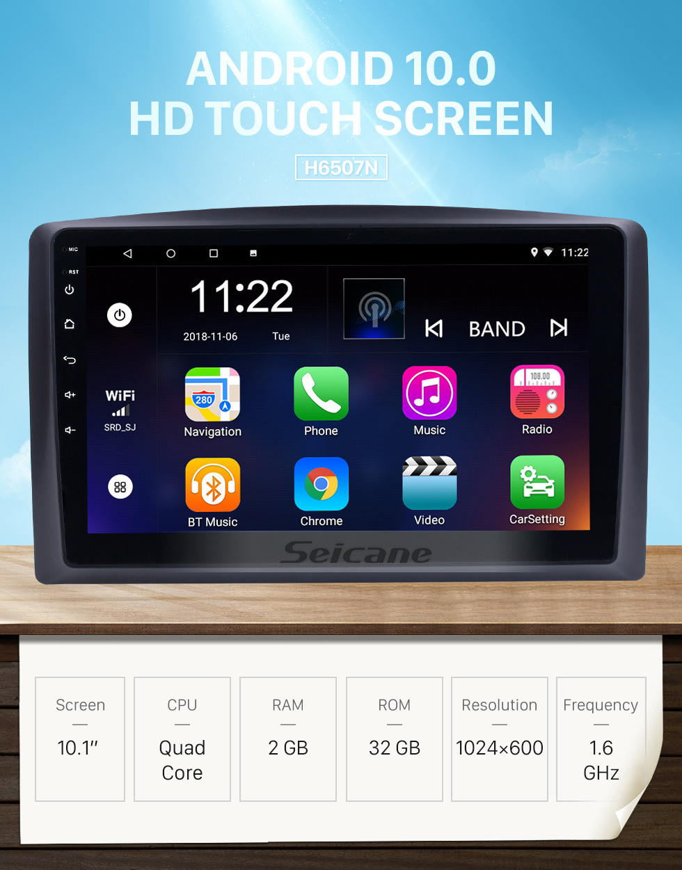 Seicane 10.1 inch Android 10.0 for 2010 2011 2012-2015 Mercedes Benz Vito Radio Bluetooth HD Touchscreen GPS Navigation System support Carplay TPMS
