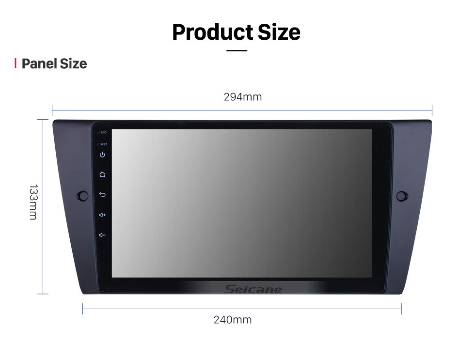 Seicane HD Touchscreen 9 inch for 2005 2006 2007-2012 BMW 3 Series E90 E91 E92 E93 316i 318i 320i 320si 323i 325i 328i 330i 335i 335is M3 316d 318d 320d 325d 330d 335d Radio Android 10.0 GPS Navigation System with Bluetooth support Carplay