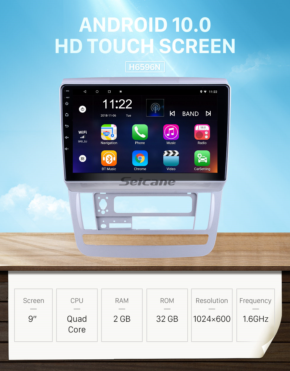 Seicane OEM 9 inch Android 10.0 for 2003 2004-2007 Toyota Alphard Low Version RHD Radio with Bluetooth HD Touchscreen GPS Navigation System support Carplay